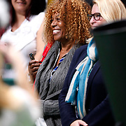 Serena Williams her mother of the U.S. celebrates with the trophy after her victory against Russia's Maria Sharapova after their final WTA tennis championships match in Istanbul, October 28, 2012.  Photo by Aykut AKICI/TURKPIX
