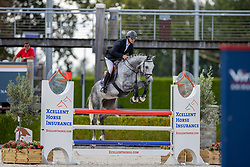 Van Olst Mike, NED, Kornets Touch W<br /> Nationaal Kampioenschap KWPN<br /> 5 jarigen springen final<br /> Stal Tops - Valkenswaard 2020<br /> © Hippo Foto - Dirk Caremans<br /> 19/08/2020