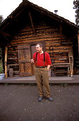 AK: Alaska Denali National Park, Historic Interpretation by Charles Sheldon.Photo Copyright: Lee Foster, lee@fostertravel.com, www.fostertravel.com, (510) 549-2202.Image: akdena215