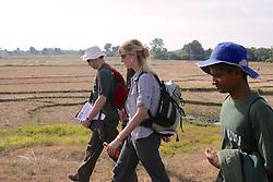 Volunteers in Field