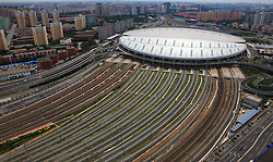 """File photo taken on June 24, 2011 shows Beijing South Railway Station, northern terminal of the Beijing-Shanghai high-speed railway in Beijing, capital of China. """"Building more high-speed railways"""" has been a hot topic at the annual sessions of China's provincial legislatures and political advisory bodies intensively held in January. China has the world's largest high-speed rail network, with the total operating length reaching 19,000 km by the end of 2015, about 60 percent of the world's total. The expanding high-speed rail network is offering unprecedented convenience and comfort to travelers, and boosting local development as well. Chinese companies have developed world-leading capabilities in building high-speed railways in extreme natural conditions. High-speed railway routes across China have been designed to suit its varying climate and geographical conditions. The Harbin-Dalian high-speed railway travels through areas where the temperature drops to as low as 40 degree Celsius below zero in winter, the Lanzhou-Xinjiang railway passes through the savage Gobi Desert and the Hainan Island railway can withstand a battering from typhoons. The China Railway Corp. plans to spend another 800 billion yuan (around 120 billion U.S. dollars) in 2016, especially in less-developed central and western regions. EXPA Pictures © 2016, PhotoCredit: EXPA/ Photoshot/ Xinhua<br /><br />*****ATTENTION - for AUT, SLO, CRO, SRB, BIH, MAZ only*****"""