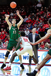 NORMAL, IL - December 16: Stefan Kenic defended by Malik Yarbrough during a college basketball game between the ISU Redbirds and the Cleveland State Vikings on December 16 2018 at Redbird Arena in Normal, IL. (Photo by Alan Look)