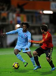 17-11-2009 VOETBAL: JONG ORANJE - JONG SPANJE: ROTTERDAM<br /> Nederland wint met 2-1 van Spanje / Georginio Wijnaldum<br /> ©2009-WWW.FOTOHOOGENDOORN.NL