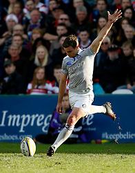 Bath's George Ford kicks a conversion during the Aviva Premiership match at Kingsholm Stadium, Gloucester.