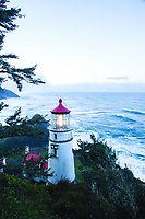 Hecata Head Lighthouse along the Oregon coast.