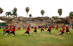 Bristol City players warm up ahead of a light training session - Mandatory by-line: Matt McNulty/JMP - 21/07/2017 - FOOTBALL - Tenerife Top Training Centre - Costa Adeje, Tenerife - Pre-Season Training