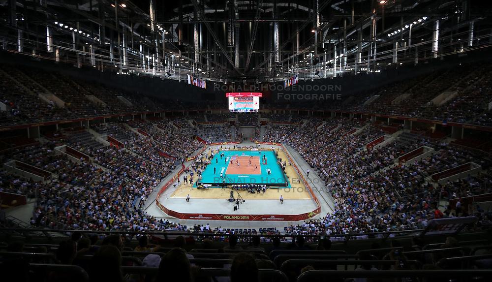 06.09.2014, Krakow Arena, Krakau, POL, FIVT WM, USA vs Frankreich, Gruppe D, im Bild Krakow Arena // during the FIVB Volleyball Men's World Championships Pool B Match beween USA and France at the Krakow Arena in Krakau, Poland on 2014/09/06. <br /> <br /> *** NETHERLANDS ONLY ***