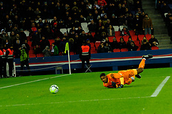 December 9, 2017 - Paris, France - Lille OSC Goalkeeper MIKE MAIGNAN in action during the League 1 French championship match Paris SG against Lille OSC at the Parc des Princes Stadium in Paris - France.Paris SG won 3-1 (Credit Image: © Pierre Stevenin via ZUMA Wire)