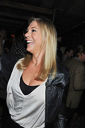 CHELSY DAVY at the launch party for the new nightclub Tonteria, 7-12 Sloane Square, London on 25th October 2012.