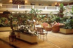 Hotel lobby in Havana; Cuba,