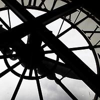 Europe, France, Paris. Clock at Musee D'Orsay.