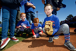 March 18, 2018 - Las Vegas, NV, U.S. - LAS VEGAS, NV - MARCH 18: Young kids from the Play Ball initiative play in the dirt prior to a game between the Chicago Cubs and Cleveland Indians as part of Big League Weekend on March 18, 2018 at Cashman Field in Las Vegas, Nevada. (Photo by Jeff Speer/Icon Sportswire) (Credit Image: © Jeff Speer/Icon SMI via ZUMA Press)