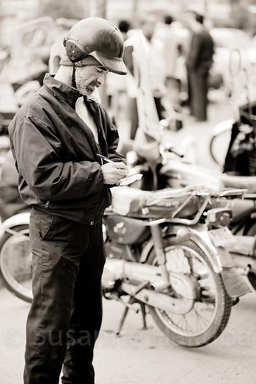 Street vendor, Tehran, Iran.