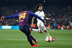 February 6, 2019 - Barcelona, Spain - Malcolm scores during the match between FC Barcelona and Real Madrid corresponding to the first leg of the 1/2 final of the spanish cup, played at the Camp Nou Stadium, on 06th February 2019, in Barcelona, Spain. (Credit Image: © Joan Valls/NurPhoto via ZUMA Press)