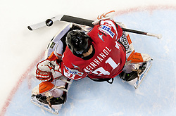 Fabian Weinhandl of Austria during ice-hockey match between Austria and Slovenia of Group G in Relegation Round of IIHF 2011 World Championship Slovakia, on May 7, 2011 in Orange Arena, Bratislava, Slovakia. Austria defeated Slovenia 3-2. (Photo By Vid Ponikvar / Sportida.com)