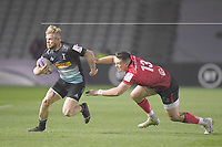 Rugby Union - 2020 / 2021 European Rugby Challenge Cup - Round of 16 - Harlequins vs Ulster - The Stoop<br /> <br /> Harlequins' Tyrone Green evades the tackle of Ulster Rugby's James Hume.<br /> <br /> COLORSPORT/ASHLEY WESTERN