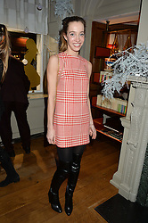 LONDON, ENGLAND 1 DECEMBER 2016: Nicole Sabatini at the Smythson & Brown's Hotel Christmas Party held at Brown's Hotel, Albemarle St, Mayfair, London, England. 1 December 2016.