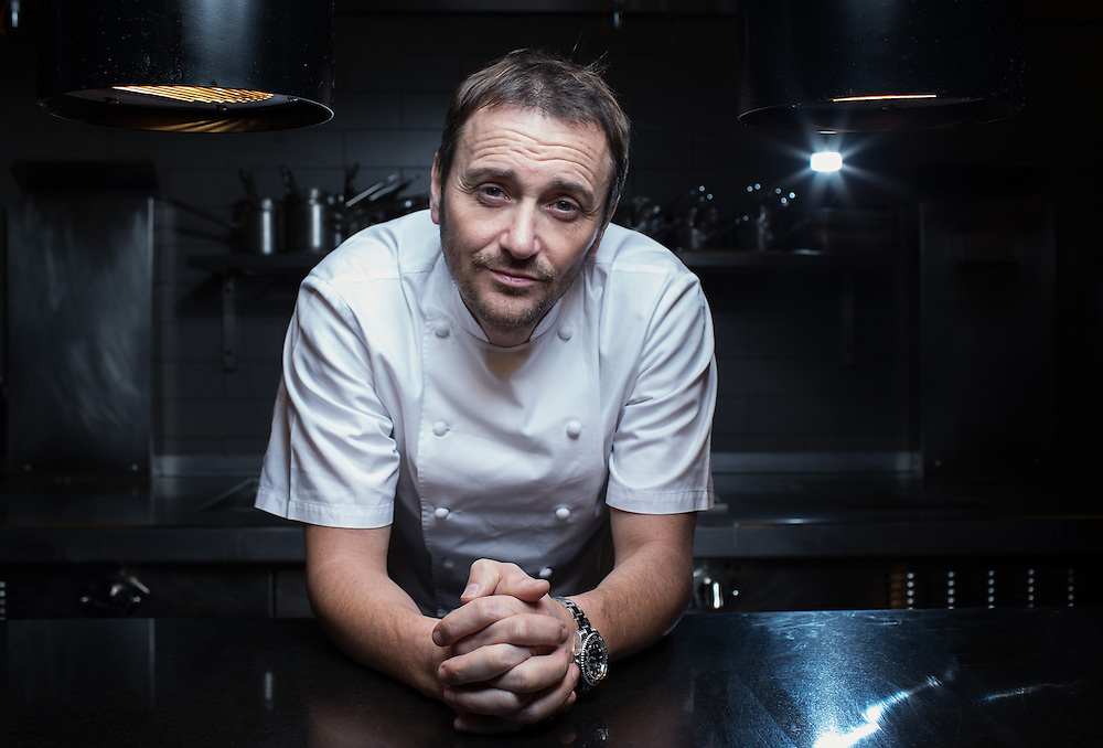 """Chef Jason Atherton poses for portraits at his  restaurant Berners Tavern ahead of his new tv show """"My Kitchen Rules"""" on Thursday 19th December."""