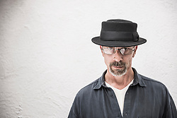 Portrait of a serious mature man wearing a hat, Munich, Bavaria, Germany