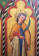 Victorian painting of Saint John, Church of Saint Mary, Uggeshall, Suffolk, England, UK