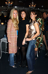 Left to right, MISS PERDI MARTELL, MISS SARA BAIRD and MISS CAMILLA HACKING at a party hosted by Panerai and the Baglioni Hotel, 60 Hyde Park Gate, London on 6th December 2004.<br />