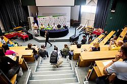 Rapper Rok Terkaj performs at Press conference of Darko Duric and Dejan Fabcic, Slovenian Paralympic athletes after decision of ending their career, on June 3, 2020 in Faculty of Sport, Ljubljana, Slovenia. Photo by Vid Ponikvar / Sportida