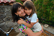 Betty and her daughter at the Wild Farm, Dolni Glavanak, Eastern Rhodope mountains, Bulgaria