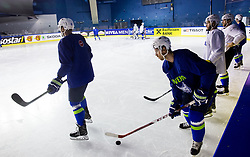 Luka Vidmar of Slovenia during practice session of Team Slovenia at the 2017 IIHF Men's World Championship, on May 11, 2017 in AccorHotels Arena in Paris, France. Photo by Vid Ponikvar / Sportida