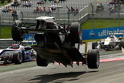 Motorsports / Formula 3 Euro Series Spielberg/Oestereich, 10 Philip Ellis (GB, GU-Racing, Dallara F312 Mercedes), accident, Unfall, Abflug *** Local Caption ***  © pixathlon