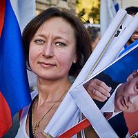 """""""Io sto con Putin"""" manifestazione a Roma"""