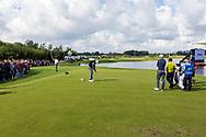 15-09-2017 - Foto van het KLM Open 2017 gespeeld op The Dutch in Spijk.. Lee Westwood op hole 10, ronde 2