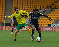 \Norwich City's Mario Vrancic (left) and Middlesbrough's Djed Spence (right) <br /> <br /> Photographer David Horton/CameraSport<br /> <br /> The EFL Sky Bet Championship - Norwich City v Middlesbrough - Saturday 30th January 2021 - Carrow Road - Norwich<br /> <br /> World Copyright © 2021 CameraSport. All rights reserved. 43 Linden Ave. Countesthorpe. Leicester. England. LE8 5PG - Tel: +44 (0) 116 277 4147 - admin@camerasport.com - www.camerasport.com