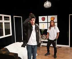 The Removal Service <br /> By Will Pattle and Alice Briganti <br /> Directed by Luke Adamson<br /> Presented by OVO<br /> At The Maltings Theatre, St. Albans, Hertfordshire, Great Britain <br /> Rehearsal / press photo call <br /> 12th March 2021 <br /> <br /> Live stream:<br /> Saturday 13th March 2021 at 7.30pm<br /> <br /> Recording available to stream:<br /> Sunday 14th to Saturday 27th March 2021<br /> <br /> WILL PATTLE as Greg<br /> CHICHO TCHE as Zeek<br /> FELIPE PACHECO as Cleaner<br /> <br /> Set design by Simon Nicholas<br /> Costume design by Delga Martineau<br /> Lighting design by Adam Bottomley<br /> <br /> Photograph by Elliott Franks