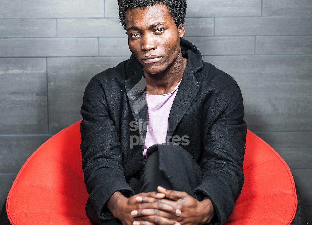 Picture by Daniel Hambury/Stella Pictures Ltd +44 7813 022858<br /> 28/11/2013<br /> British musician Benjamin Clementine pictured in a central London hotel.<br /> Shot on location at the Pullman London St Pancras.