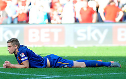 Michael Dawson of Hull City cuts a dejected figure at the final whistle - Mandatory by-line: Nizaam Jones/JMP - 21/04/2018 - FOOTBALL - Ashton Gate Stadium- Bristol, England - Bristol City v Hull City - Sky Bet Championship
