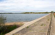 Alton Water reservoir lake, Suffolk, England, UK dam at Stutton