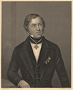 Eilhard Mitscherlich (1794-1863), German chemist and crystallographer who, in 1819, noted the phenomenon of Isomorphism. From James Sheridan Muspratt 'Chemistry' (London, c1860). Engraving.