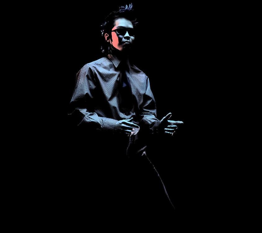 Studio portrait of a male in sunglasses