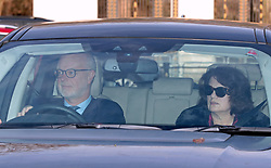 The Earl and Countess of St Andrews arriving for the Queen's Christmas lunch at Buckingham Palace, London.