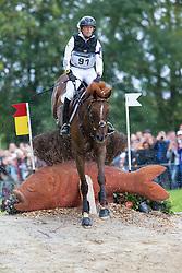 Sandra Auffarth, (GER), Opgun Louvo - Eventing Cross Country test - Alltech FEI World Equestrian Games™ 2014 - Normandy, France.<br /> © Hippo Foto Team - Leanjo de Koster<br /> 30/08/14