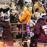 Football fans at the Ramah Mustangs football game against Navajo Pine Warriors, Thursday, Oct. 11, 2018 in Ramah.