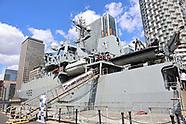 HMS Enterprise (H88) visit to Canary Wharf