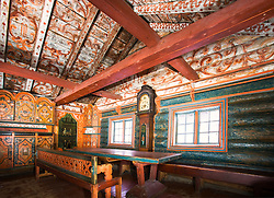 Villandstugu - a traditional, nice decorated house from the 1700th century built in Hallingdal, Norway