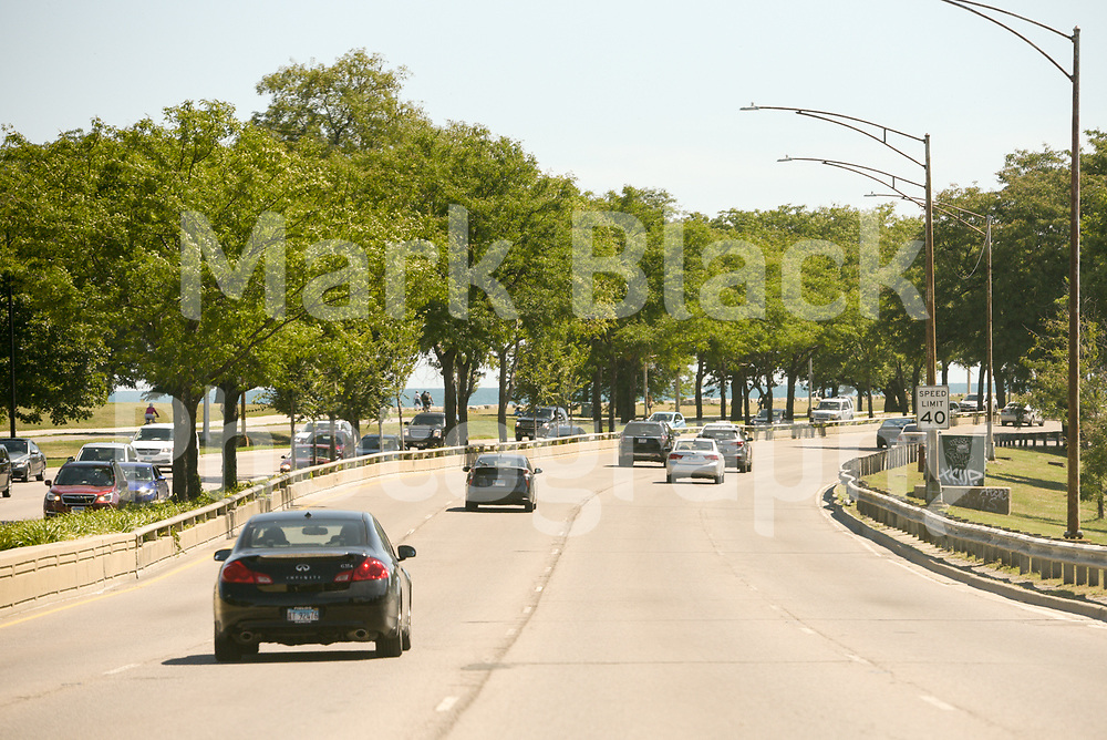 Lake Shore Drive (LSD) between Fullerton and Belmont in Chicago on Friday, Sept. 4, 2020. Photo by Mark Black