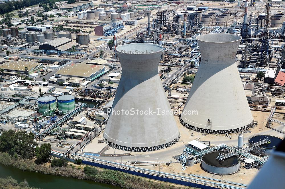 Bay Of Haifa Industrial Zone Aerial View