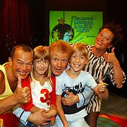Presentatie DVD Grote Meneer Kaktus Show, Kweetniet, Mw. Stemband, Annemiek Hoogendijk en Peter Jan Rens, Linda Janssen, Saskia Veerman