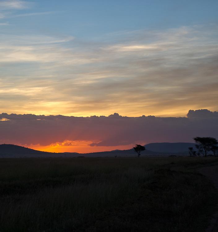 Sunset in Serengeti