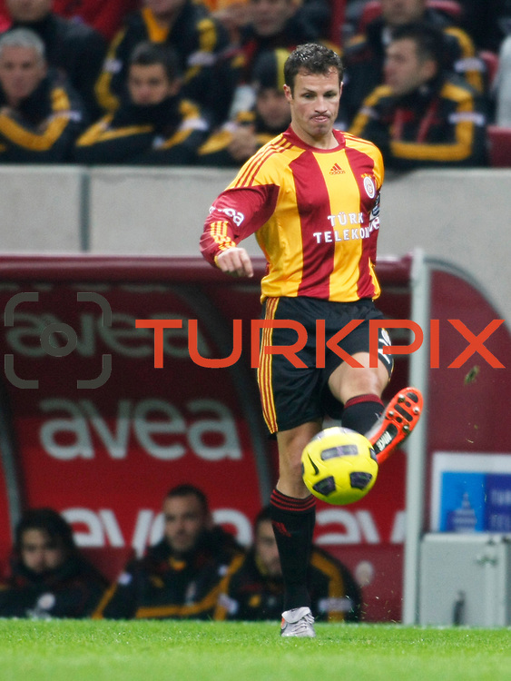 Galatasaray's Lucas NEILL during their Turkish Super League soccer match Galatasaray between Kardemir Karabukspor at the Turk Telekom Arena at Seyrantepe in Istanbul Turkey on Saturday 05 March 2011. Photo by TURKPIX