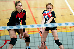 Anouk van Egmond of VCN in action during the first league match between Djopzz Regio Zwolle Volleybal - Laudame Financials VCN on February 27, 2021 in Zwolle.