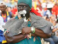 Photo: Steve Bond/Richard Lane Photography.<br />Ghana v Guinea. Africa Cup of Nations. 20/01/2008. Guinea (fowl) ready for sacrifice?